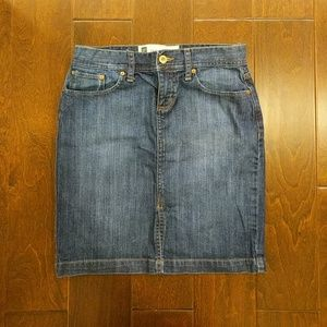 Denim GAP front slit skirt